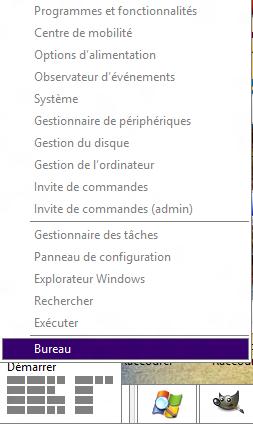 Menu démarrer Windows 8