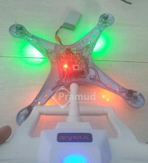 tes drone syam x5hw yang sudah diganti motor dinamo baru - pramud blog