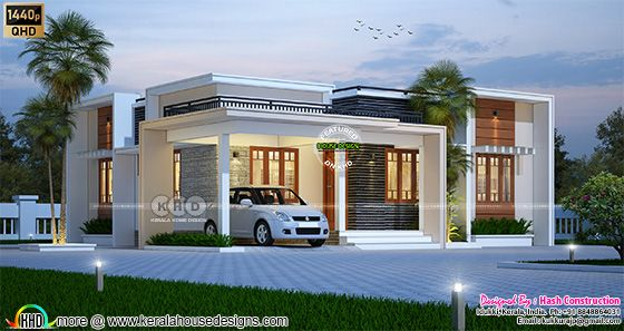 Small budget flat roof house rendering