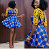 Check Out This Beautiful And Trendy Ankara Style Short Gown