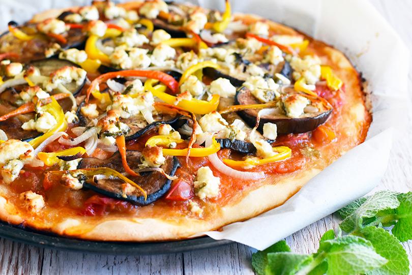 recette pizza grecque