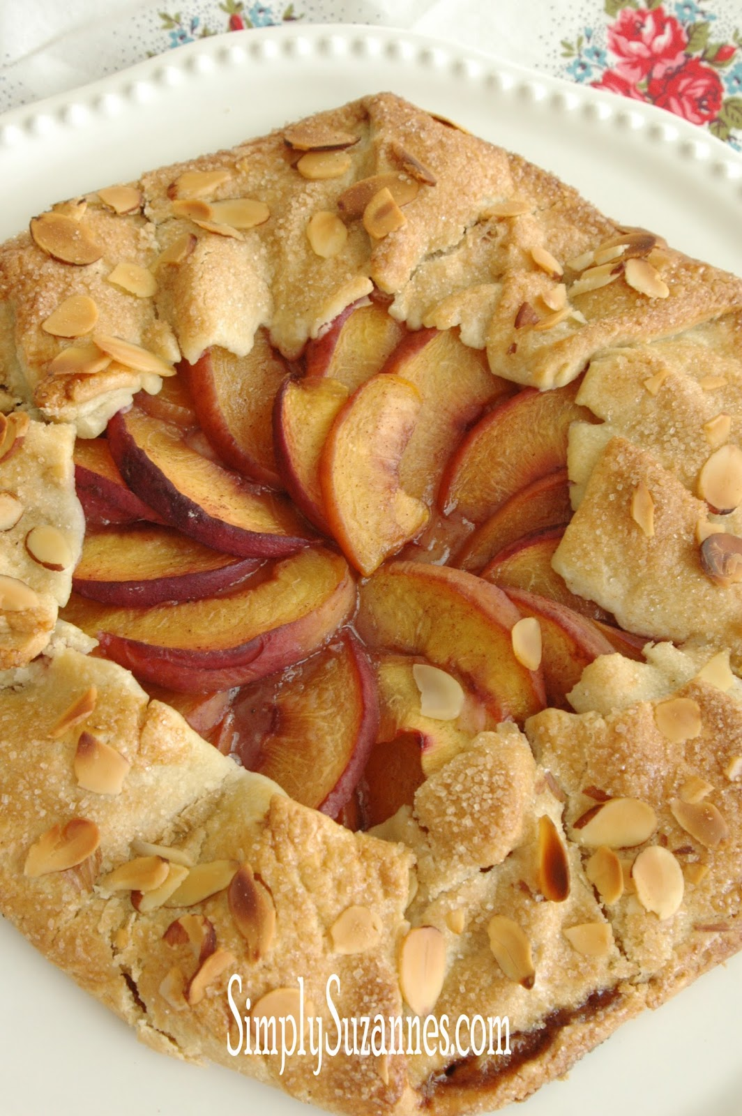 Simply Suzanne S At Home Peach And Almond Galette