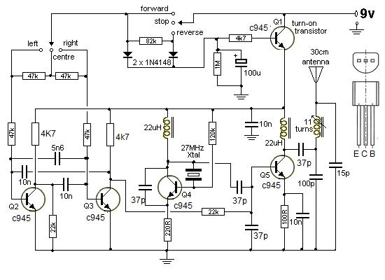 circuito oscilador con transistores  led oscilador con