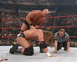 WWE / WWF No Way Out 2001 -  Steve Austin battled HHH in a Three-Stages of Hell Match