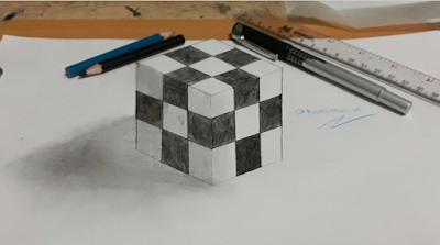 gambar bentuk kubus 3 d