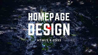 Homepage Design with Text Animation Effects