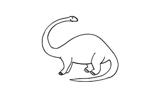 dibujos faciles dinosaurios para
