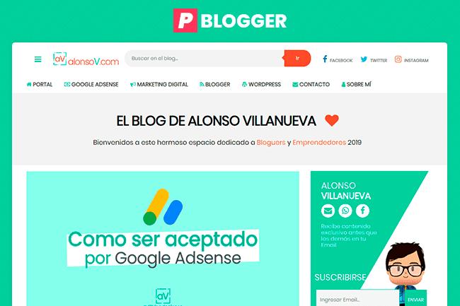 alonsoV Plantilla Blogger Gratis
