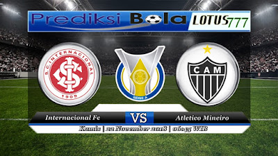 prediksi pertandingan Internacional vs Atletico Mineiro 22 November 2018