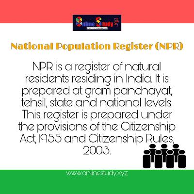 National Population Register(NPR)
