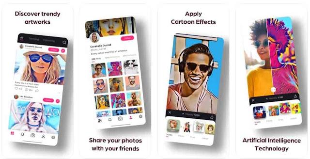 تحميل تطبيق Cartoona للايفون لتعديل الصور