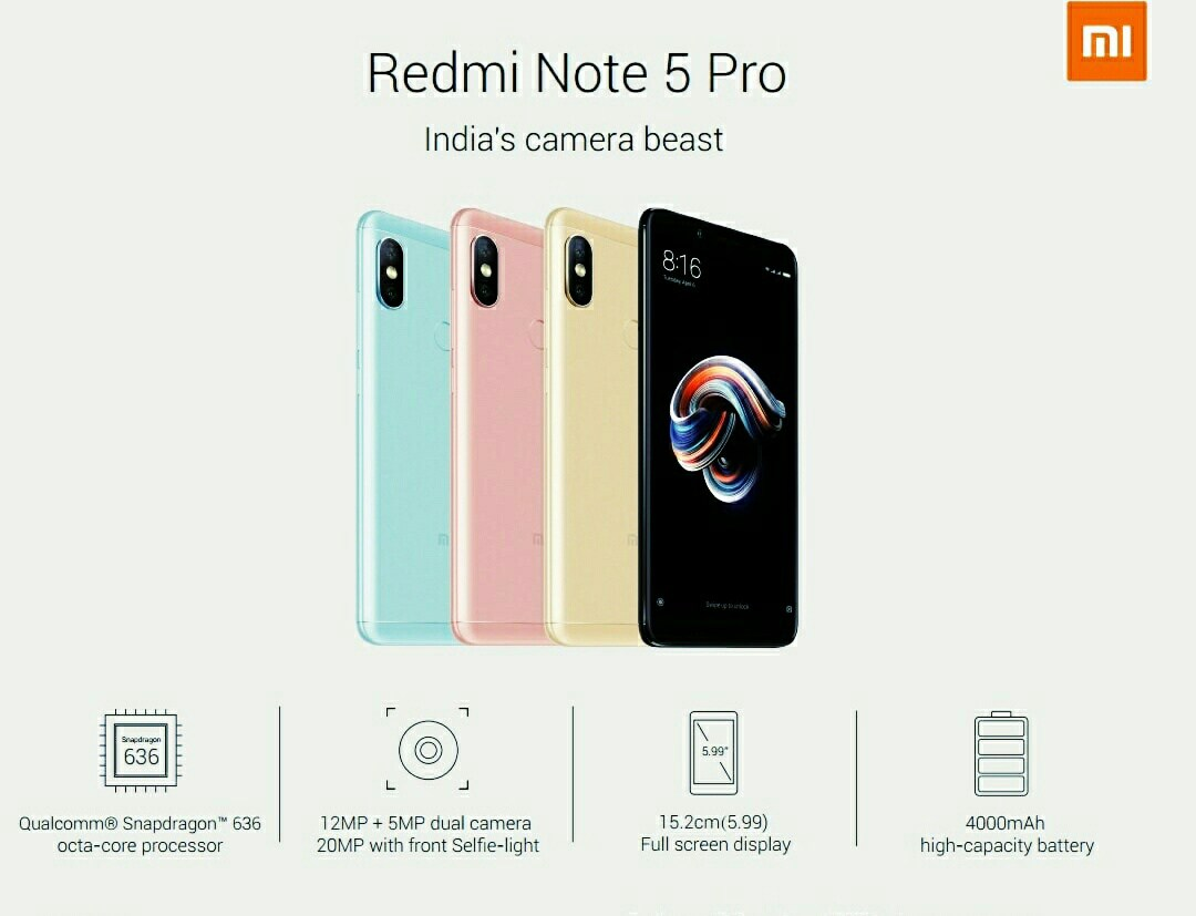 China To Get Xiaomi Redmi Note 5 Pro as Redmi Note 5