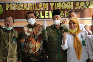 Ketua Mahkamah Agung Dr.H.M.Syarifuddin, S.H.,M.H Beserta Rombongan Melakukan Pembinaan di Palembang Provinsi Sumatera Selatan 11-11-2020