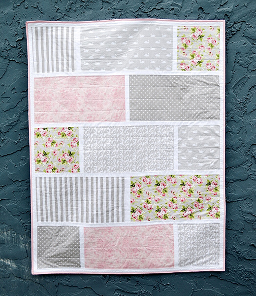 Love Story Brick & Mortar Quilt designed by Julia for Riley Blake Designs