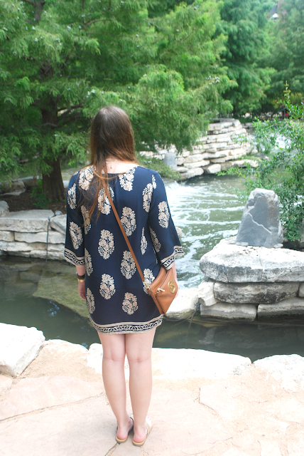 navy blue boho dress