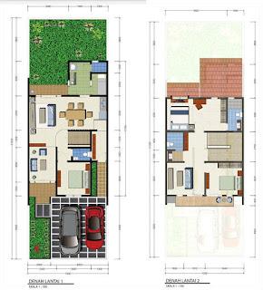 denah rumah minimalis modern bintaro
