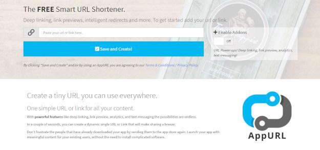 AppURL: Δωρεάν πρόγραμμα σμίκρυνσης URL χωρίς εγγραφή