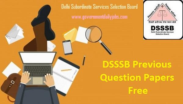 DSSSB Previous Question Papers Download