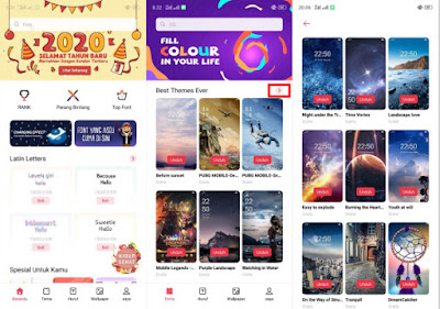 Cara Download Tema Oppo di Theme Store Gratis