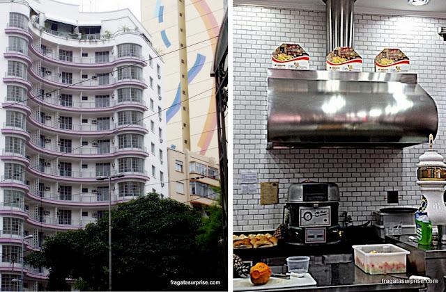 A arquitetura do Centrão de São Paulo e uma padaria paulistana