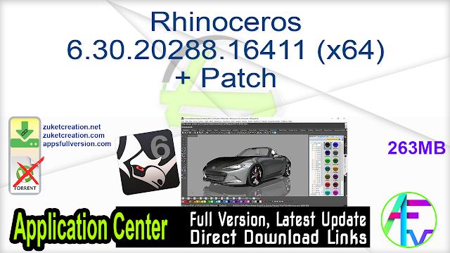 Rhinoceros 6.30.20288.16411 (x64) + Patch