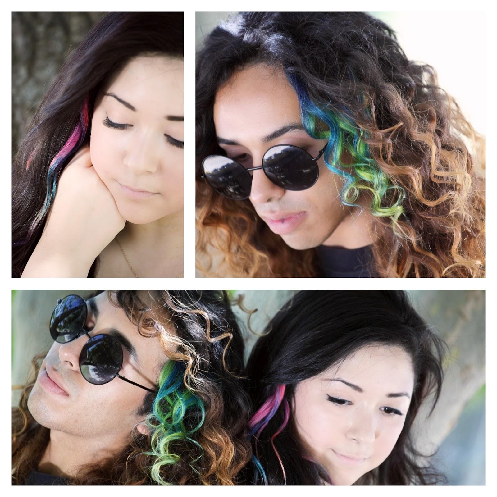 Cool Diy Hair: ILoveToCreate Blog: Tie-Dye Hair Extensions! DIY Rainbow Hair