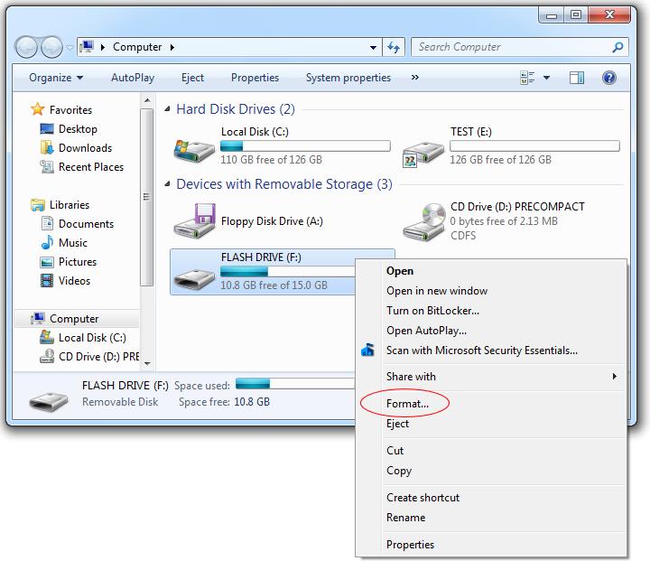 Sửa lỗi USB không cho lưu tập tin dung lượng lớn hơn 4GB