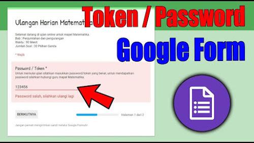 Cara Melihat Token Password Google Form