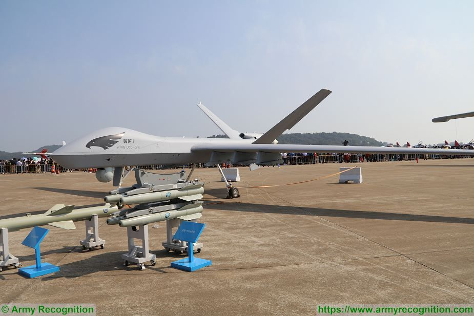 China Firing Test With Wing Loong II UAV Unmanned Aerial Vehicle MALE