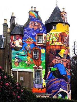 Castillo ilustrado  de una forma muy alegre