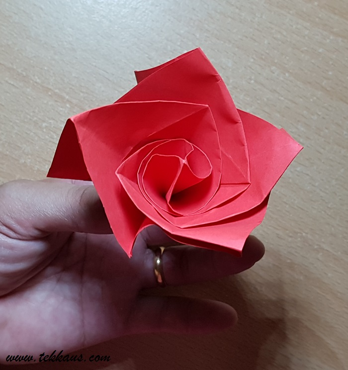 Gift and Origami Rose Valentine's Day