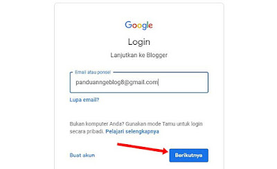 lampiran email blogger