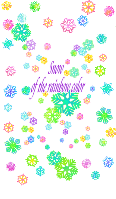 Snow of the rainbow color