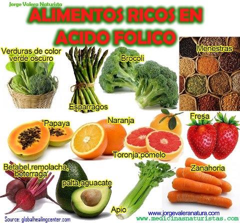 alimentos altos en vitamina b9