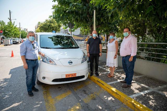 Νέο ηλεκτροκίνητο όχημα για τις Κοινωνικές Δομές απέκτησε ο Δήμος Ιλίου