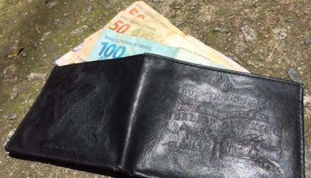 Homem perde a carteira com documentos, cartões bancários e dinheiro em Caraúbas