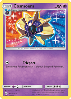 Cosmoem Sun and Moon Pokemon Card