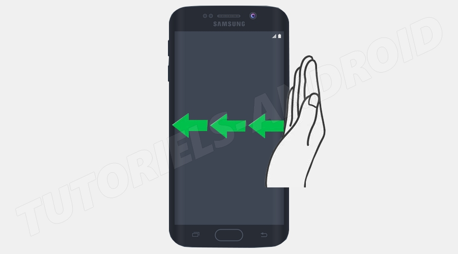 SAMSUNG : Swipe pour capturer écran