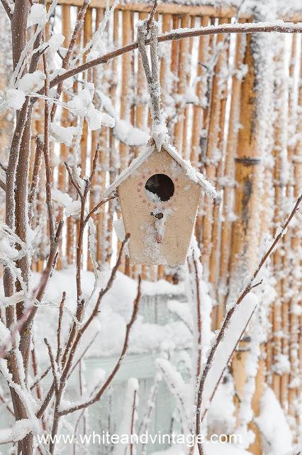Winterdeko für die Terrasse