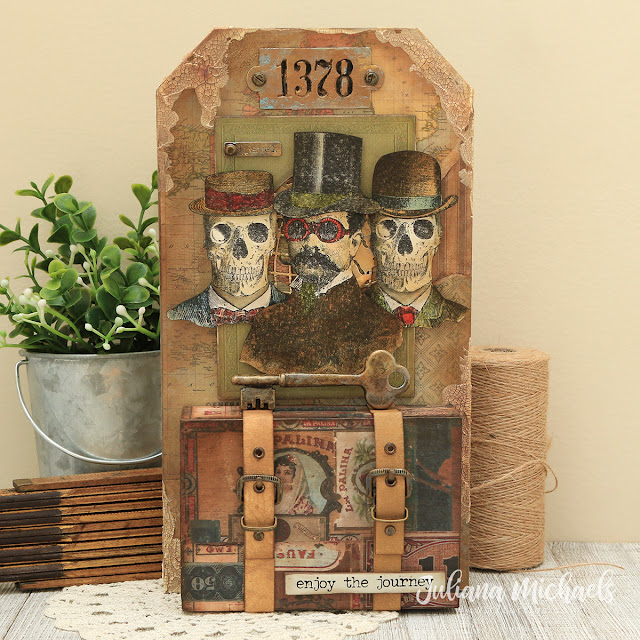 Traveling Professor and Friends by Juliana Michaels featuring Tim Holtz, Ranger Ink, Stampers Anonymous