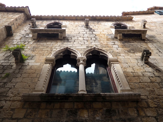 Venetian window architecture inside Diocletian's Palace, Split, Croatia