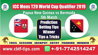 Who will win Today, ICC Mens T20 World Cup Qualifier 2019, 5th T20 Match PNG vs BER