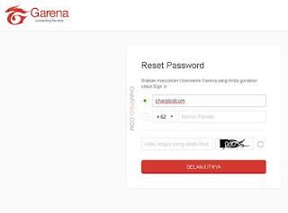 Cara Ganti/Ubah Kata Sandi (Password) Akun PB Garena Terbaru