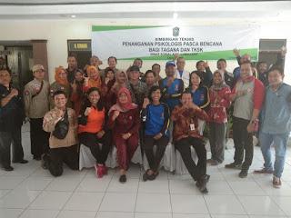Utusan Dinas Sosial Provinsi Jawa Timur Hadiri Bimtek Layanan Psikososial  Korban Bencana Bagi TAGANA Dan TKSK