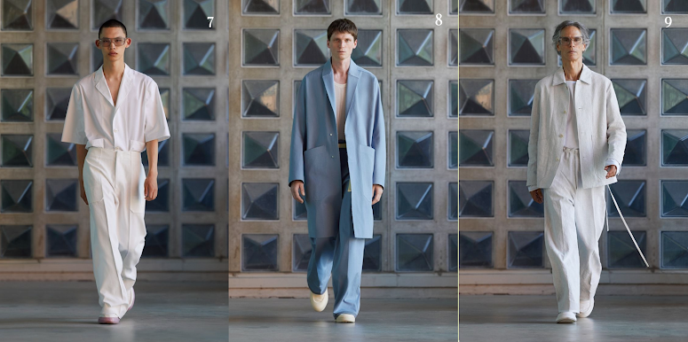 ERMENEGILDO ZEGNA   Beautiful minimalistic pieces with oversize pockets and monochrome looks in pastel and earthy color palettes. Staple pieces for every occasion, definitely a must-see collection from Milan Spring/Summer. SHOP ERMENEGILDO ZEGNA