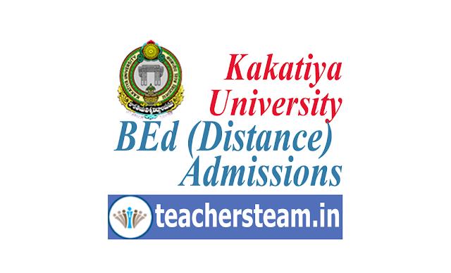 Kakatiya University BEd Distance Mode Admission Notification 2019