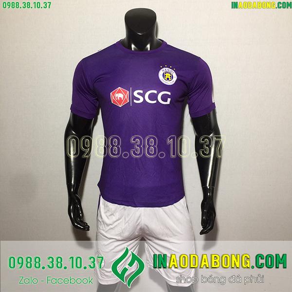 Áo bóng đá câu lạc bộ Hà Nội 2020 màu tím