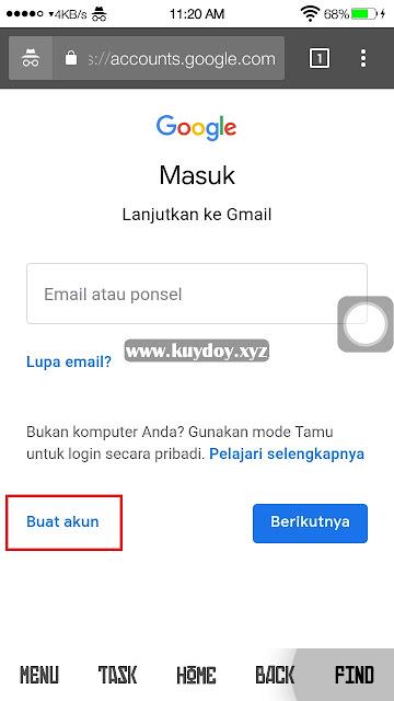 Buat Akun Gmail Tanpa Verifikasi Nomor HP di Android