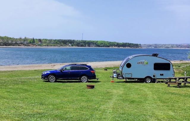 Nova Scotia; tiny trailer camping; Safari Condo Alto