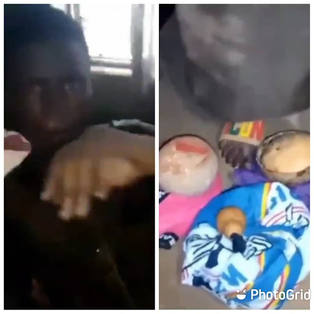 Ekiti state university student caught while trying to use his roommate for money ritual (Video)